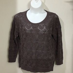 Brown Sweater With Cute Bow in Back
